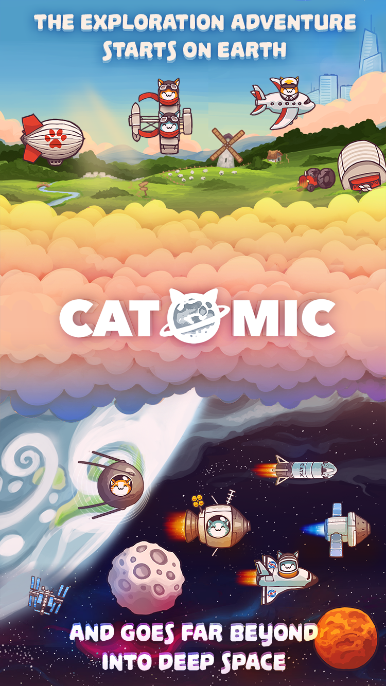 Catomic for iOS/Android - Cat Space Program aims for Mars Landing Image